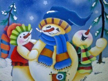 hombre-nieve-pintura-muñeco